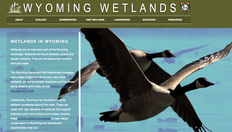 New Wyoming Game and Fish Department Website Page