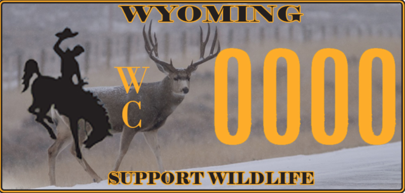 Sample of Wildlife Conservation Plate via Muley Fantatic Foundation