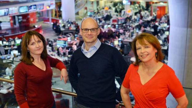 Regular presenters: Valerie Sanderson, Oliver Conway and Jackie Leonard