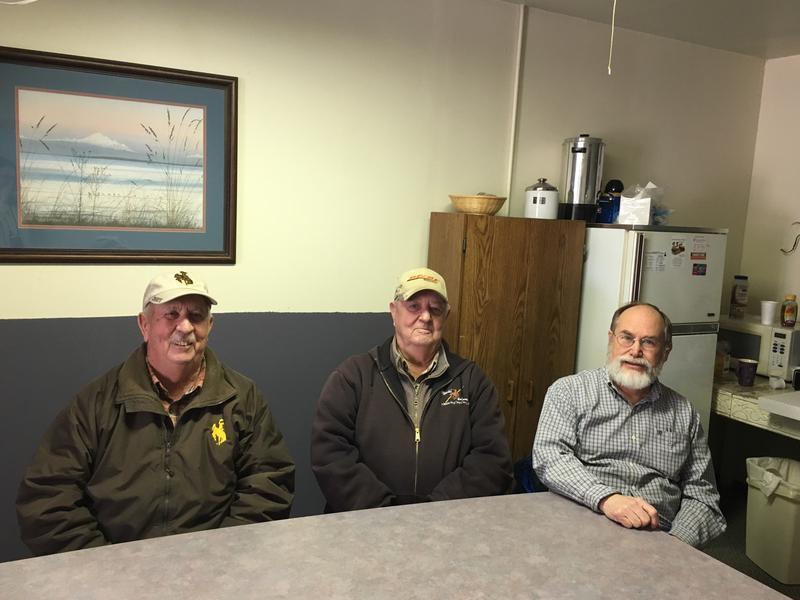 The Growing Guernsey group members Chuck Frederick, Doug Frederick, and Bruce Heimbuck.