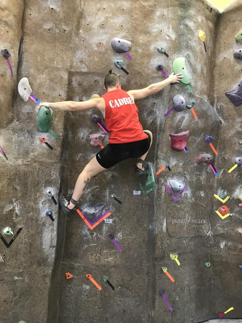 Q. Quallen rock climbing