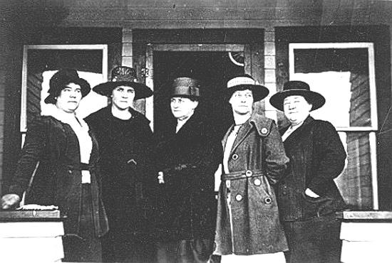 Mayor Grace Miller, third from left, and the Jackson Town Council, 1921.