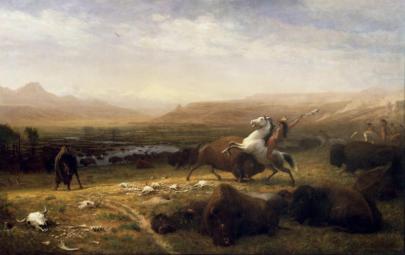 Albert Bierstadt (American, born Germany, 1830-1902). The Last of the Buffalo, ca. 1888. Oil on canvas, 60.25 x 96.5 inches. Buffalo Bill Center of the West, Cody, Wyoming. USA. Gertrude Vanderbilt Whitney Trust Fund Purchase. 2.60