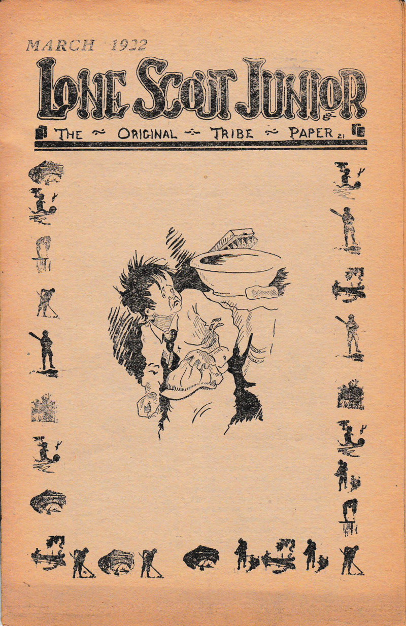"March 1922 edition of ""Lone Scout Junior."" Box 6, Lone Scouts collection."