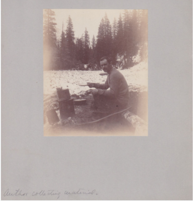 Wister camping alone, undated. Box 7, Owen Wister Papers.