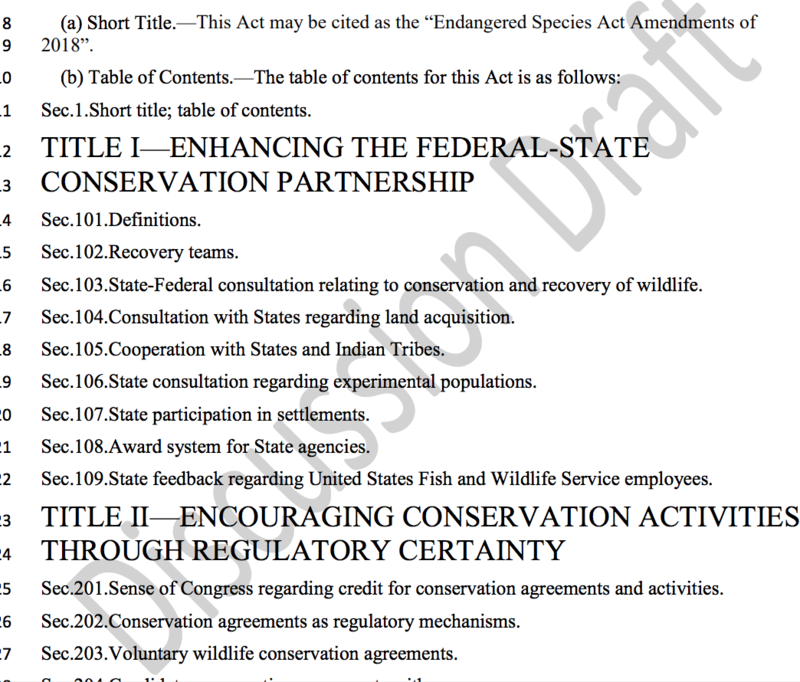 Screenshot of a passage Sen. Barrasso's proposed draft legislation