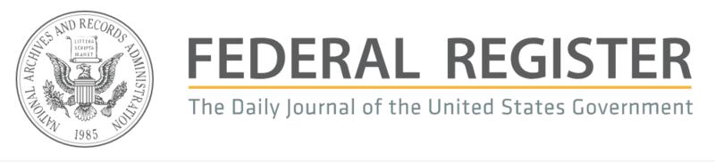 Federal Register Banner