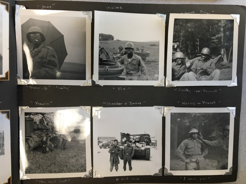 A page from the anonymous soldier's photo album that gets a sense of what daily life was like for the 2nd Armored Division's 13th Field Artillery Regiment of the U.S. Army while stationed in Germany, circa 1951-1957.