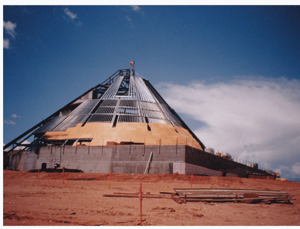 Construction of the Centennial Complex, 1992. AHC Photo Files.