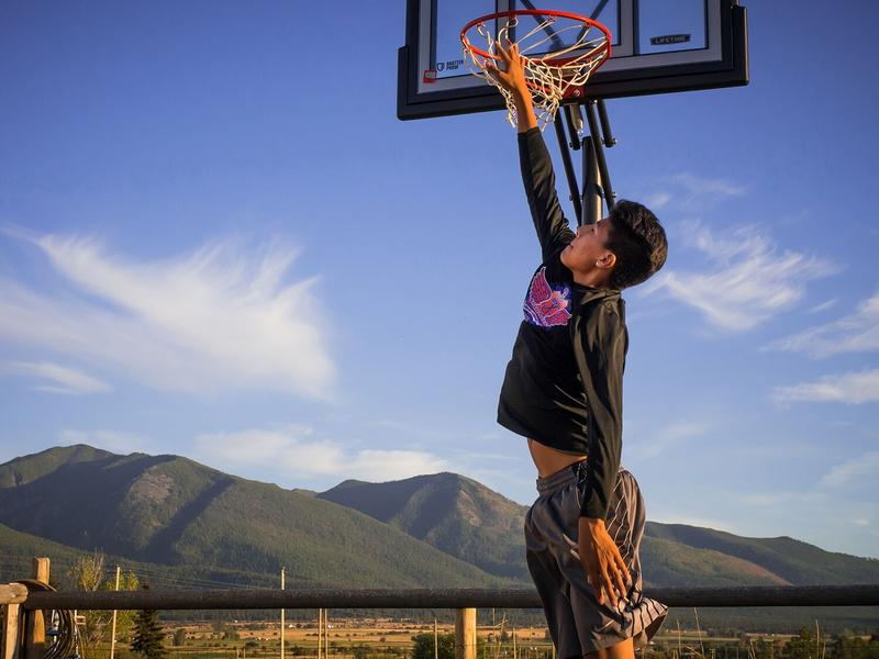 Ivory Brien is Really Good at Basketball, Flathead Reservation, Montana, 2016 by Sue Reynolds.