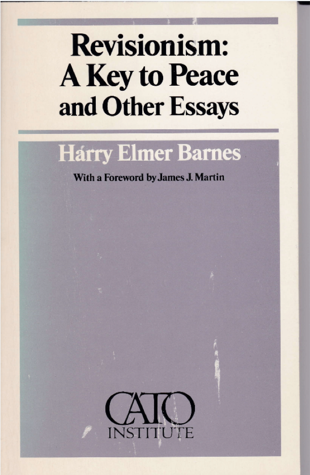 Cover of Harry Elmer Barnes's book on revisionism, 1980. Box 213, Harry Elmer Barnes papers.