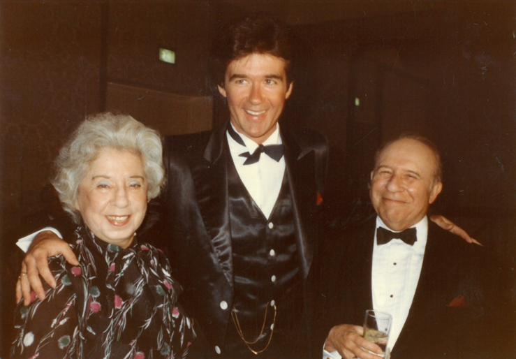 Herbert and Pepi Luft with Alan Thicke, undated. Box 149, Herbert Luft papers.