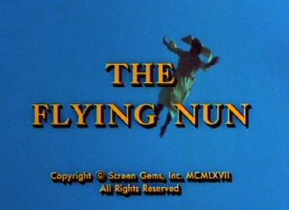 Title card from The Flying Nun, 1968, from Screen Gems.