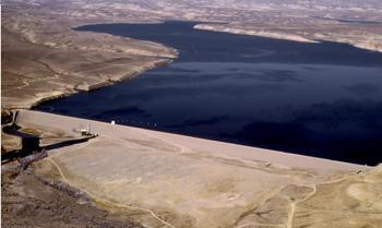 Fontanelle Dam in southwestern Wyoming