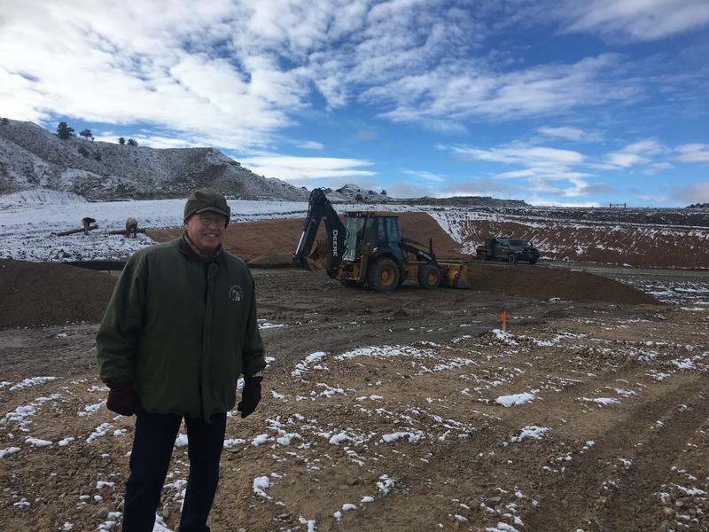 Peter Wold standing on his latest well-pad getting ready for development in the Powder River Basin.