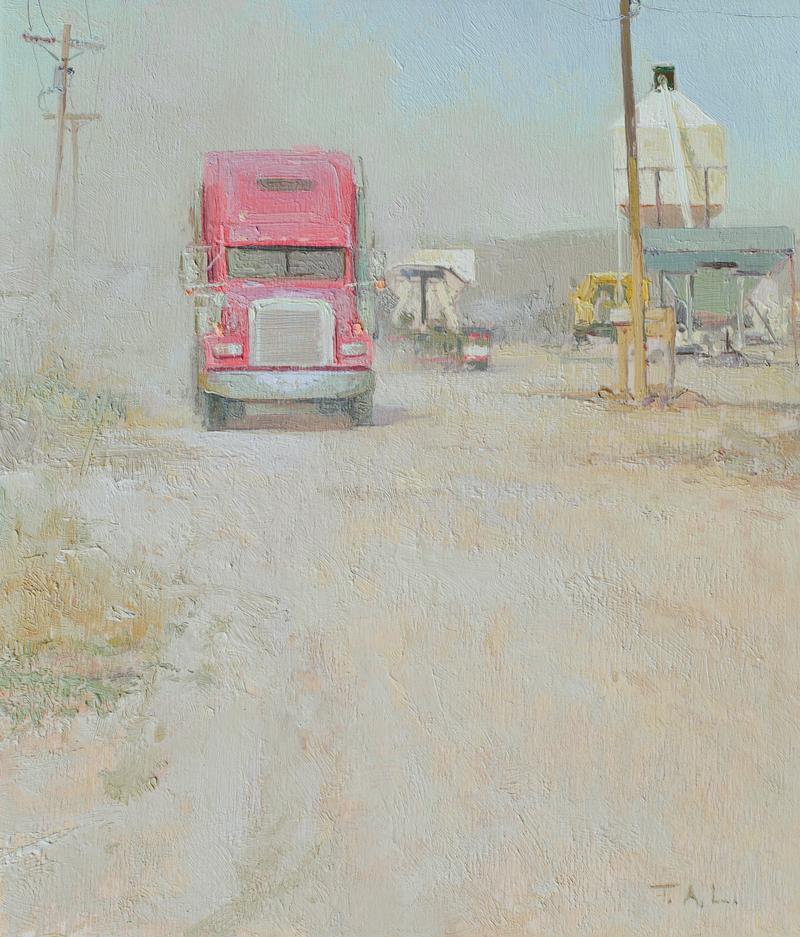 """""""Peterbilt"""" oil on panel 10.5 x 9 in. $6500"""