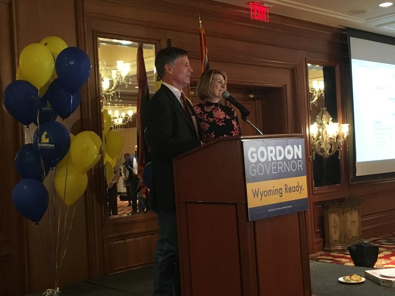Governor-elect Mark Gordon making his victory speech