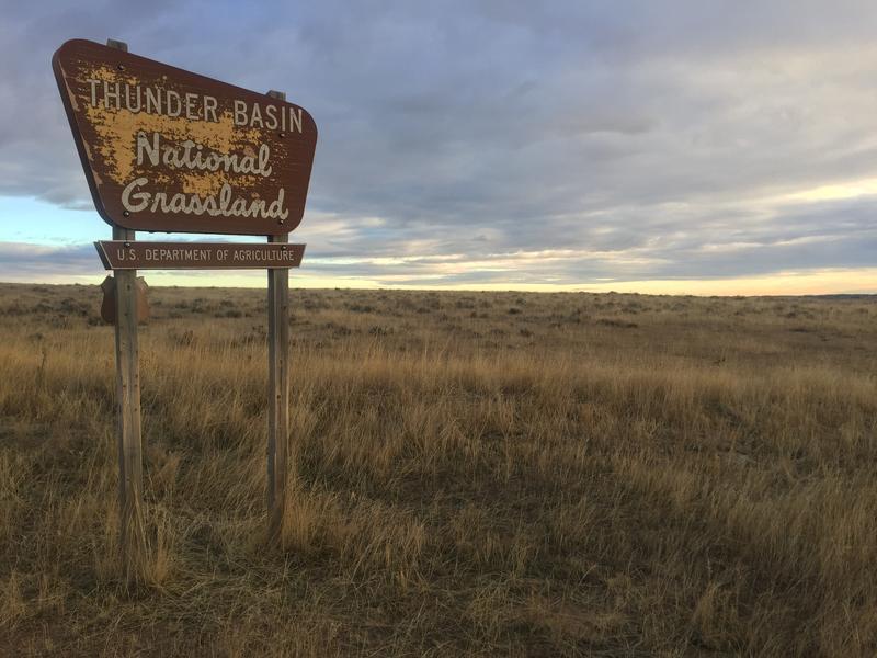 The sunrises over the Thunder Basin National Grassland.