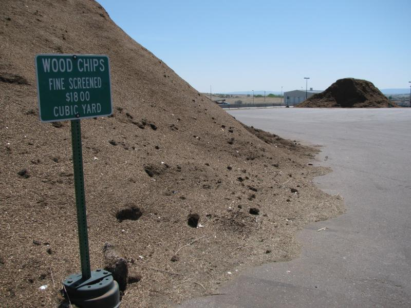 The Casper Landfill grinds the city's discarded branches into woodchips of varying grains, which is sells to commercial operations and the public. The city's new yard waste ban will likely increase the amount of compost and woodchips the landfill produces