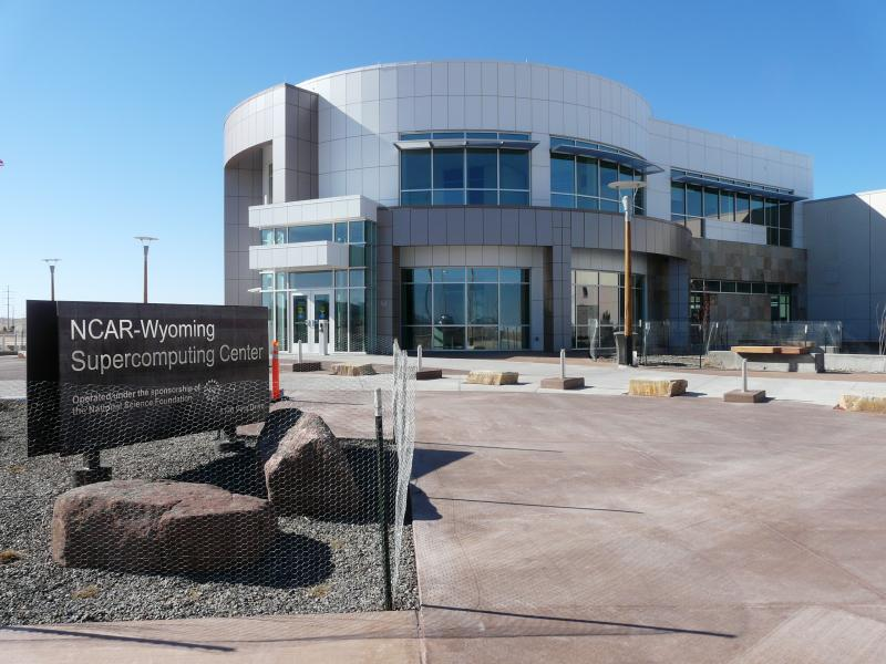 The NCAR supercomputing center is located on the western outskirts of Cheyenne