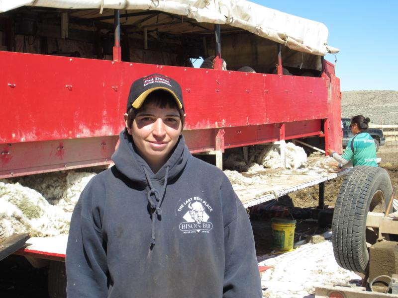 Rindy Harkness, 30, runs Top Notch Shearing and Fitting, a contractor that shears sheep in seven states, including Wyoming. In the off season, Harkness shears in Australia and New Zealand