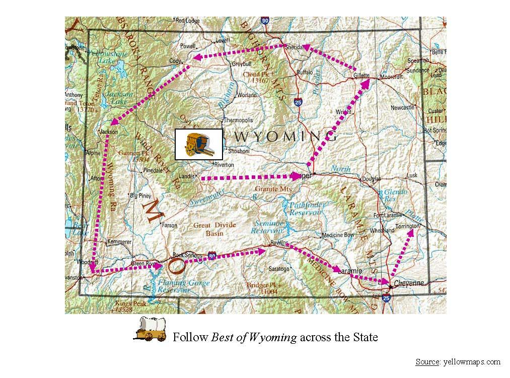 Best Of Wyoming Featured Cities Wyoming Public Media - Cities in wyoming map