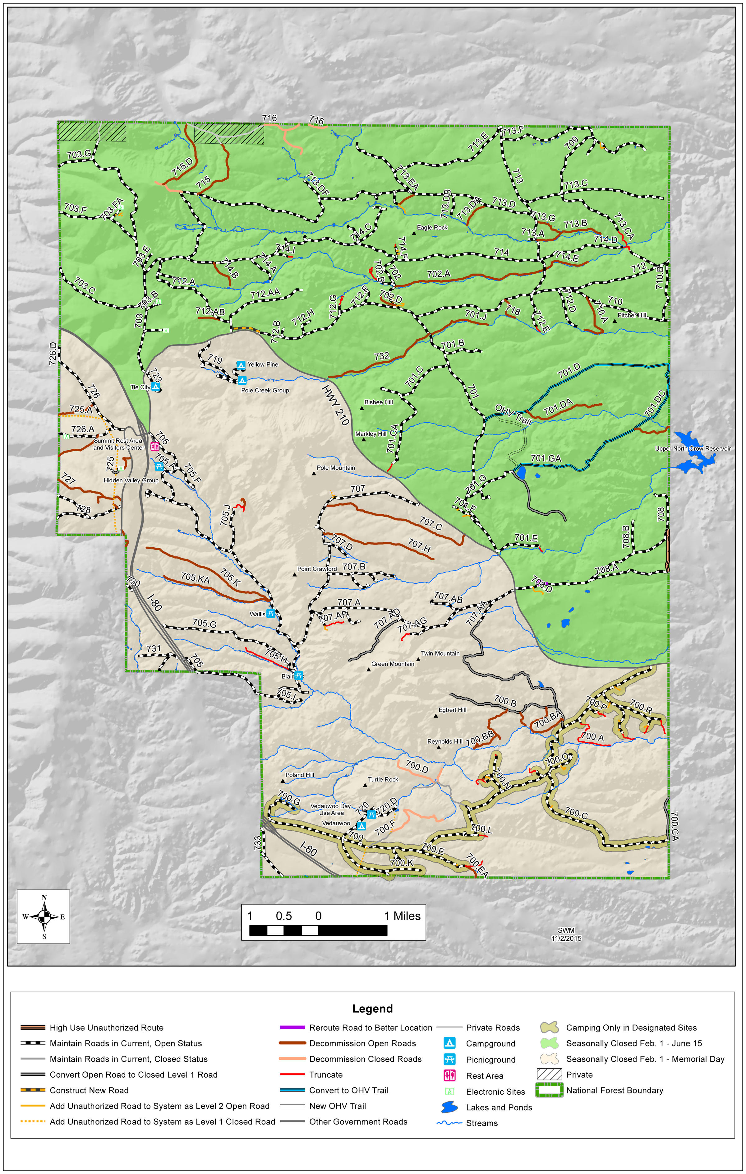 Snowy Range Wyoming Map.Too Many Roads In The Pole Mountain Recreation Area Wyoming