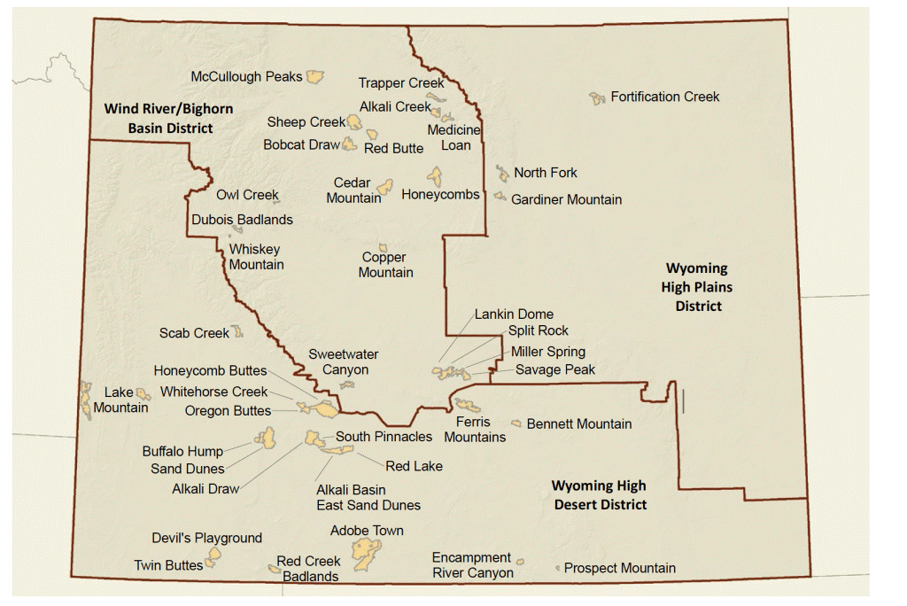Counties To Help Decide Fate Of Wilderness Study Areas Wyoming