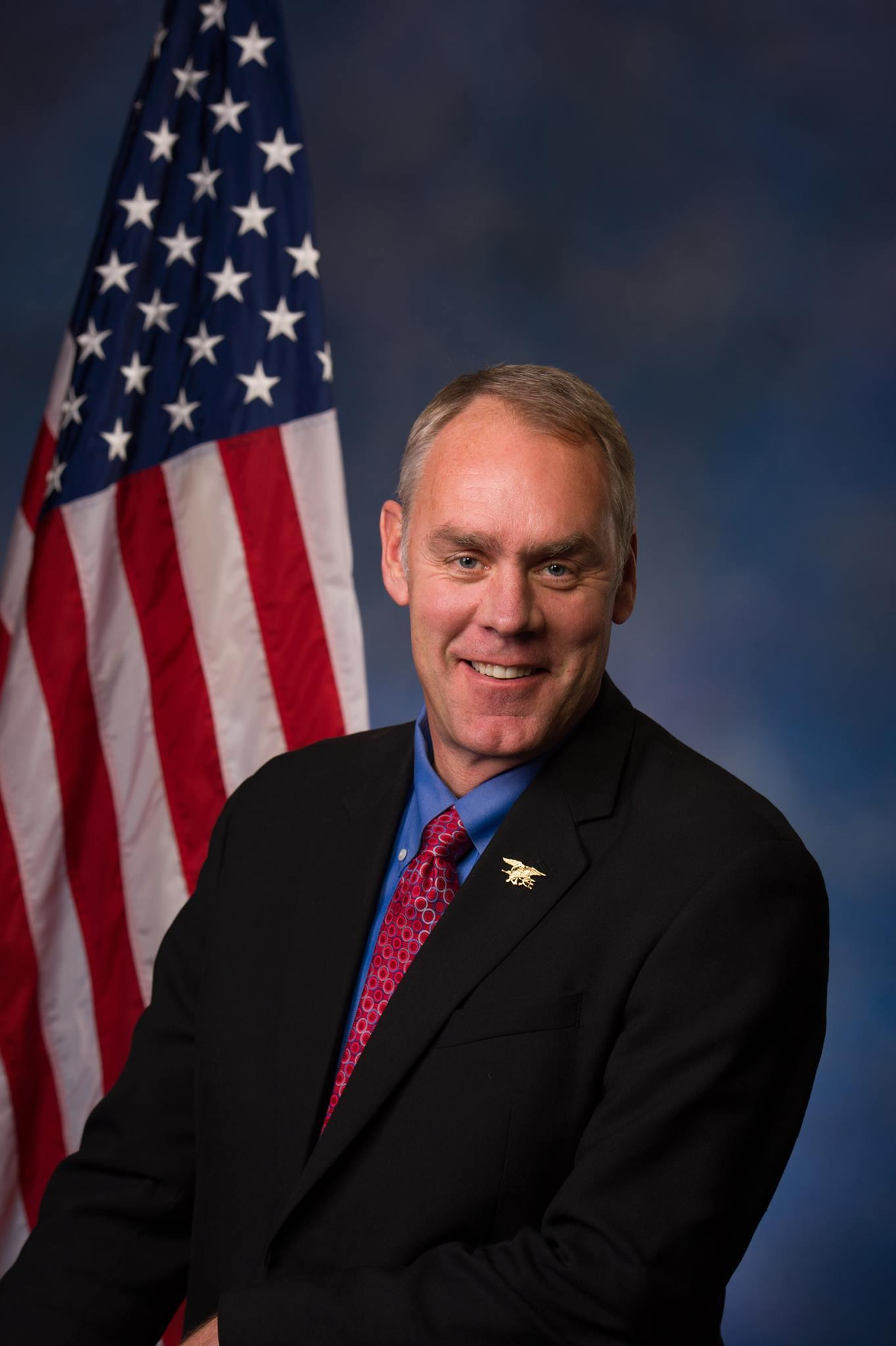US Representative Ryan Zinke Top Pick For Interior Secretary