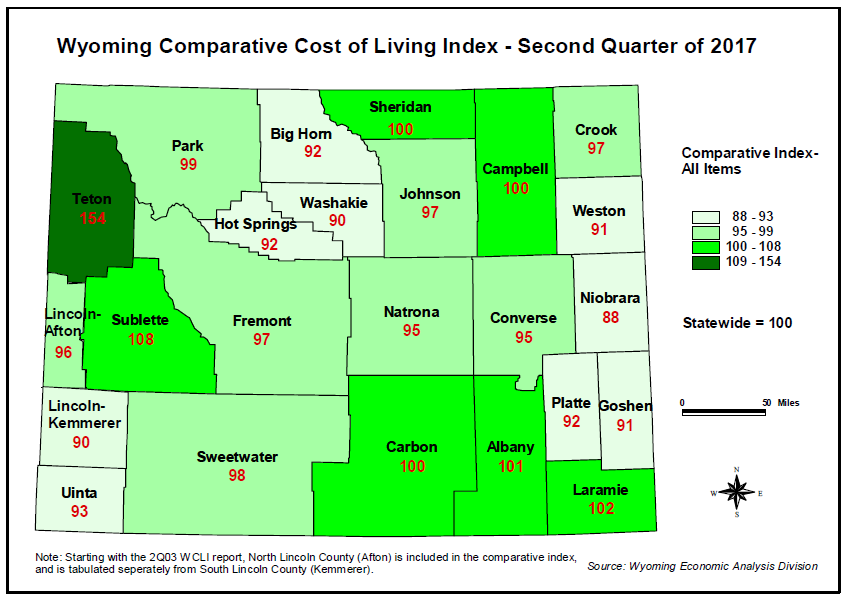 Wyoming Inflation Rate, Cost Of Living Both Rise In Second Quarter Of 2017