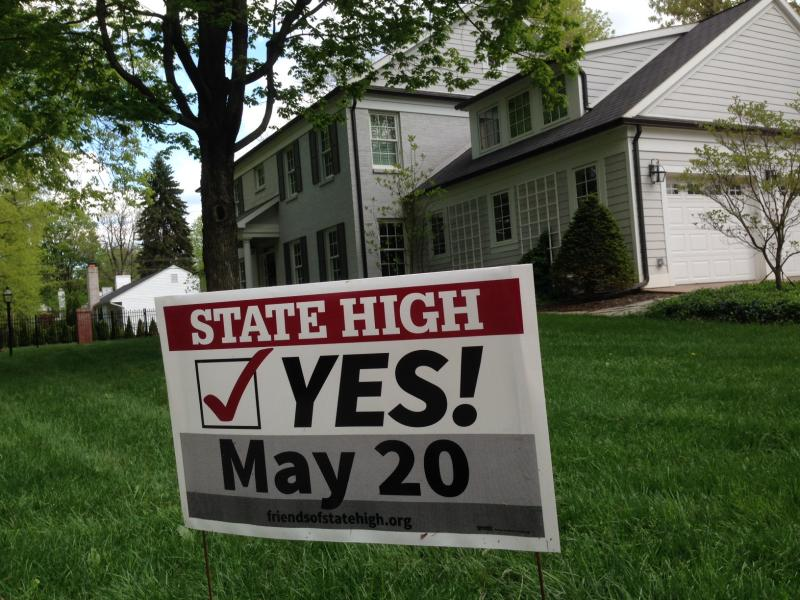 High School referendum Yes sign