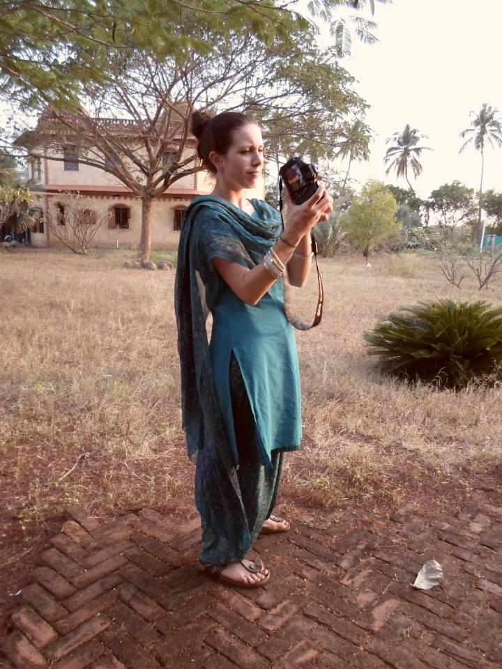 Lizzie Kline Smeltzer in India