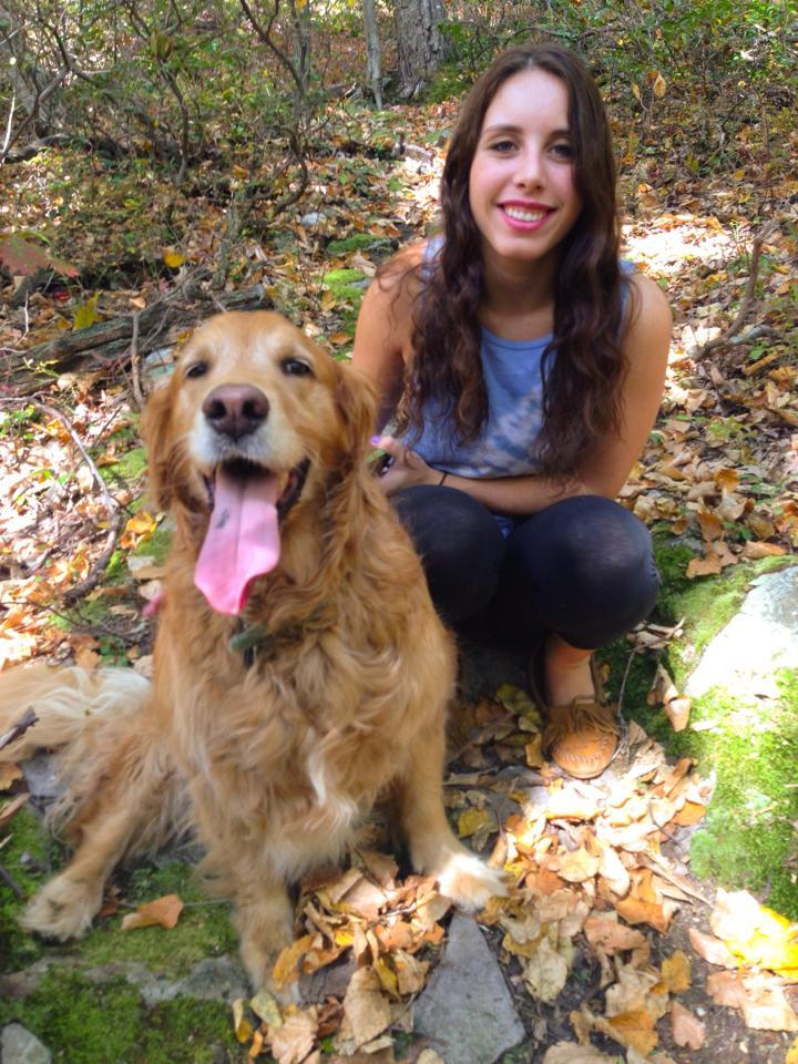 Lizzie Kline Smeltzer with dog