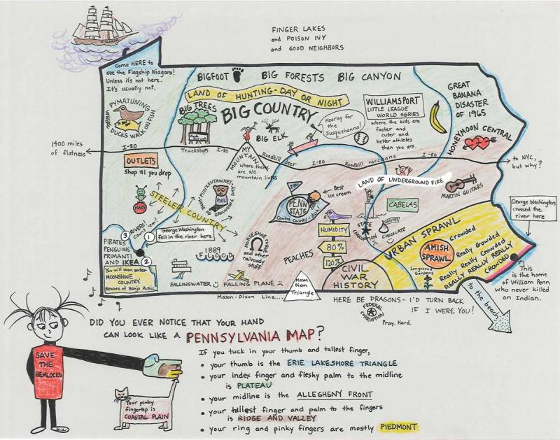"""My Pa."" map by Sue Shaffner"