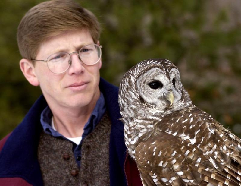 Scott Weidensaul with Owl
