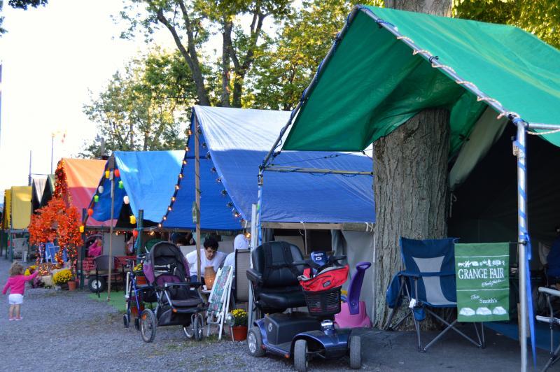 Decorated Grange Fair tents