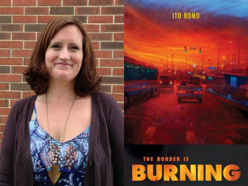 The Border is Burning book cover and reviewer