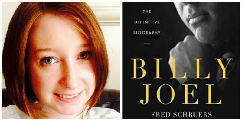 "Reviewer Erin Cassidy Hendrick and the cover of ""Billy Joel: The Definitive Biography"""