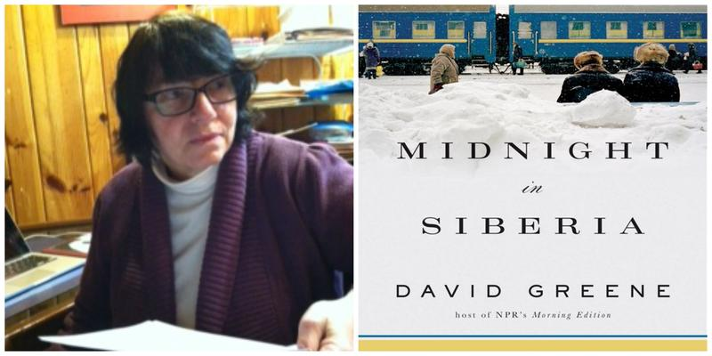 "Reviewer Linda Ivanits and the cover of ""Midnight in Siberia"""