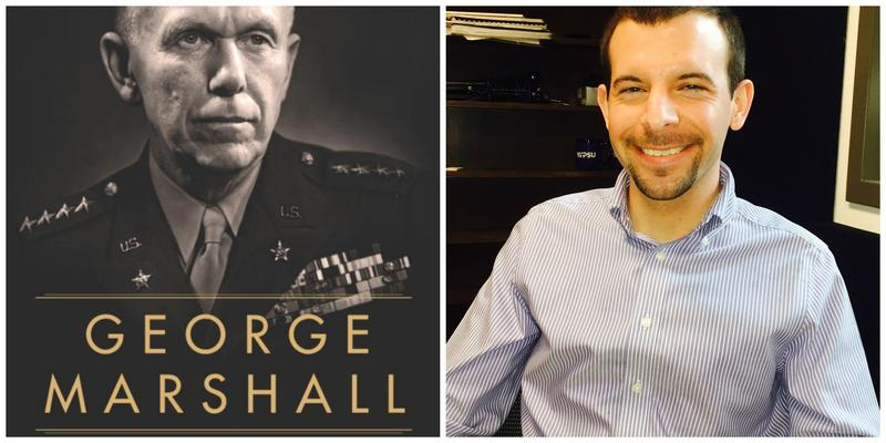 "Cover of ""George Marshall: A Biography"" and reviewer Brady Clemens"