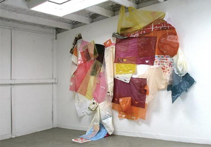 Plastic bag art