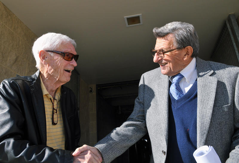 Fran Fisher and Joe Paterno