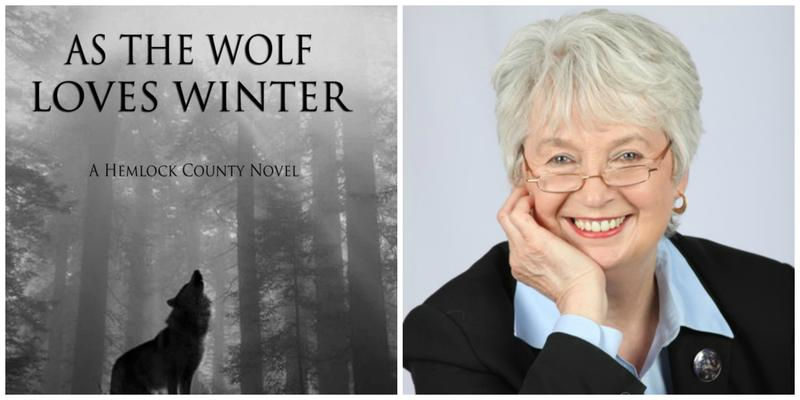 "The cover of ""As the Wolf Loves Winter"" and reviewer Cheryl Bazzoui"