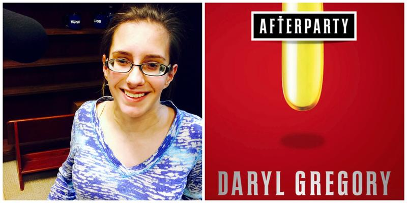 Reviewer Gabby Barone and the cover of Afterparty