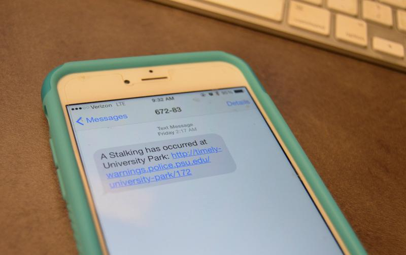 The PSU Alert text message sent in the early morning of Friday, July 10.