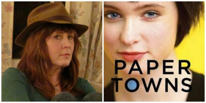 "Reviewer Kristine Allen and the cover of ""Paper Towns"""