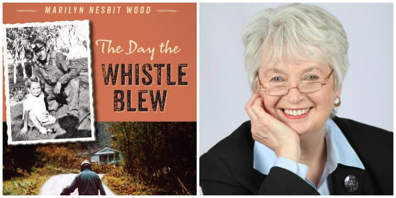"The cover of ""The Day the Whistle Blew"" and reviewer Cheryl Bazzoui"