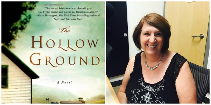 "The cover of ""The Hollow Ground"" and reviewer Marjorie Maddox."