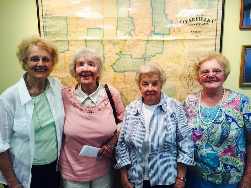 Joan Myers, Doris Manos, Rita Gill Thompson and Eleanor Bodle