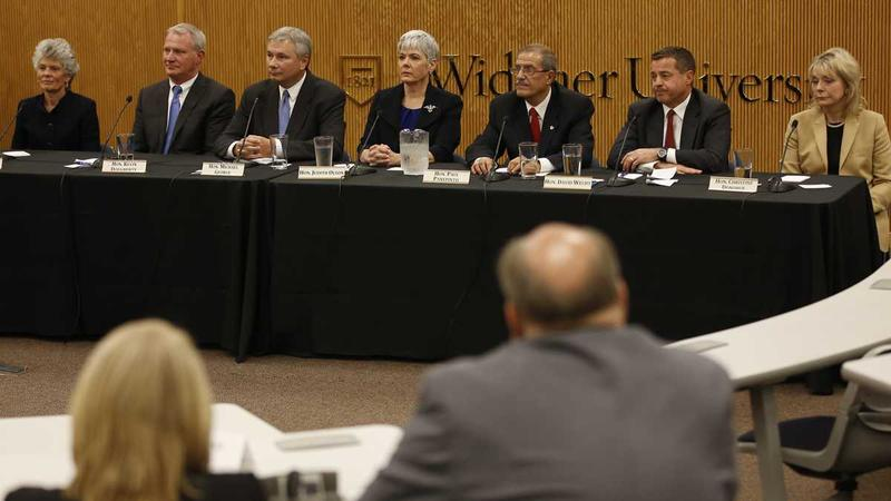 Pennsylvania Supreme Court candidates at a table